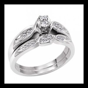 14K 1/5 cttw Diamond Engagement Set